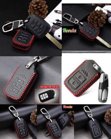 Кожен калъф за ключ Honda Civic Accord City CRV Jazz HRV Vezel FR-V