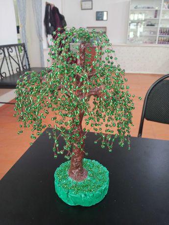 Дерева из бисера