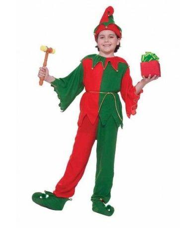 Costum serbare Craciun, Spiridus Elf Pitic, NOU, marime 3-4 ani