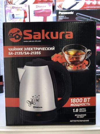 Электрический глянцевый чайник из нержавеющей стали SA-2135