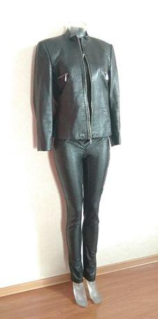 Продам кожаную черную куртку 46-48р