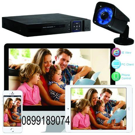 Готова система за видеонаблюдение - 4 камери, записващо устройство и к