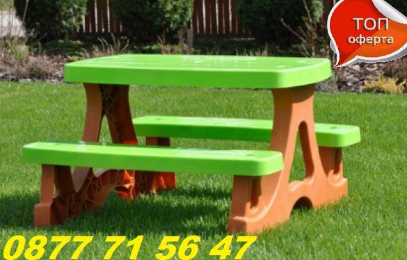 Детска маса с пейки пикник масичка за деца ВИСОКО КАЧЕСТВО!