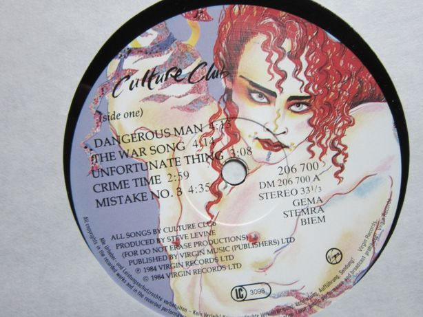 colectie vintage Boy George-Culture Club-New Wave,Reggae-Pop, Synth-po