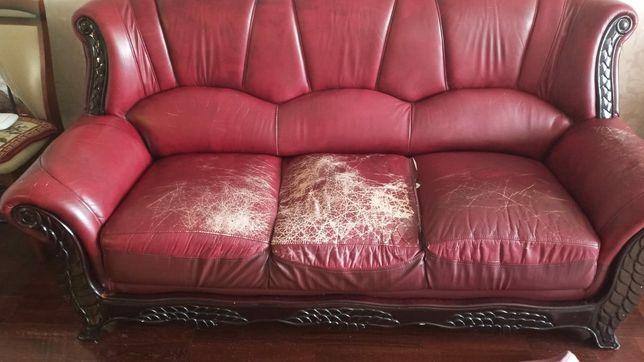 Кожаная мягкая мебель 3-2-1