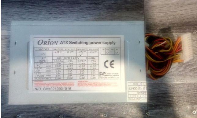 Orion WIN-300PE 300Wt, Главный Разъем Питания 24 PIN(x1), ATX 12V CPU