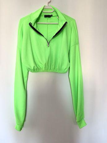 Bluza scurta - verde neon