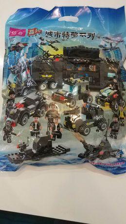 """Лего-совместимый набор """"полицейский отряд"""" - 649 элементов!"""
