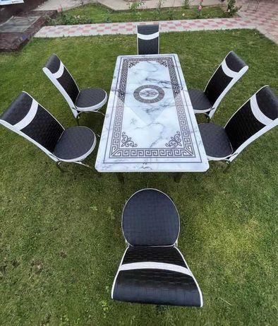 Стол +6 стулья производство Турция для кухни и кафе и заведений