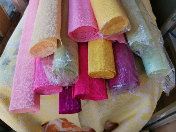 Креп бумага для изготовления цветов
