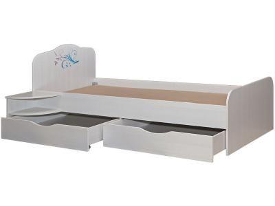 Кровать подростковая Пинскдрев Соната двойная П 439.36 Д15 белый