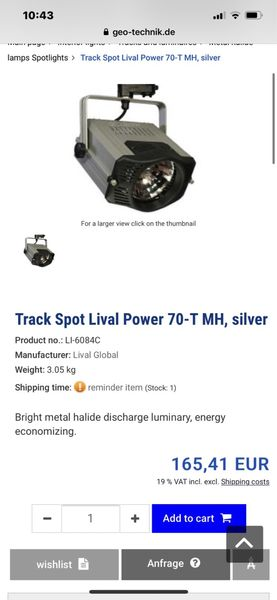 Прожектор за шина Lival made in Finland с. Руен - image 1