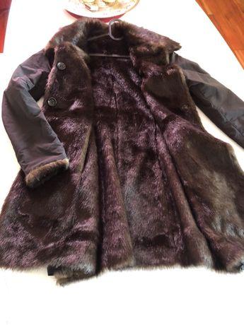 Дамско палто с две лица
