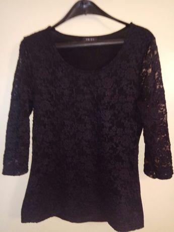 Черна дантелена блуза XL