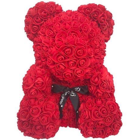 Ursulet figurina din flori de spuma 40 cm 170 lei realizat manual