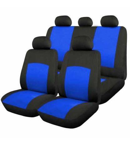 Huse Scaune Auto Universale Albastru 9 Bucati