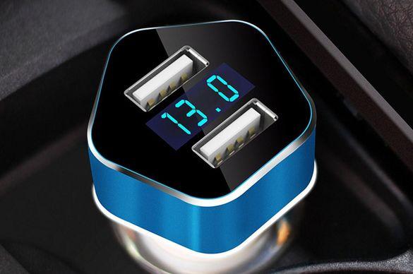 Автомобилно зарядно устройство с 2xUSB PCH PRO-05 и Волтметър