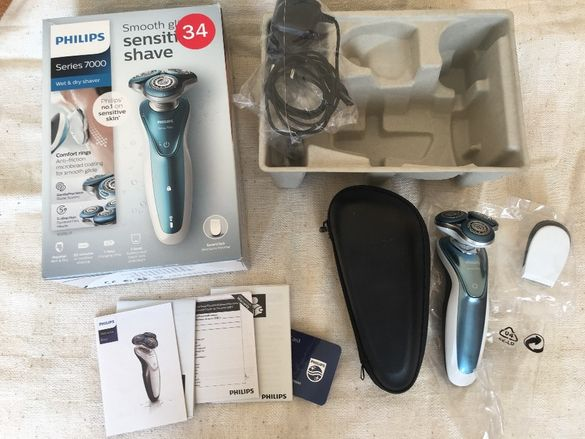 Philips Series 7000 AquaTec самобръсначка сухо и мокро бръснене