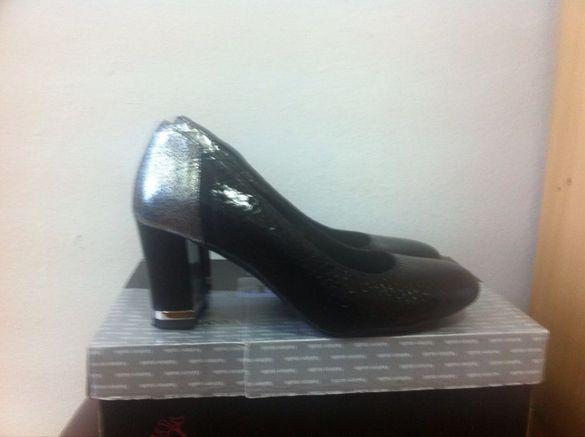 дамски обувки - естествен кроко лак