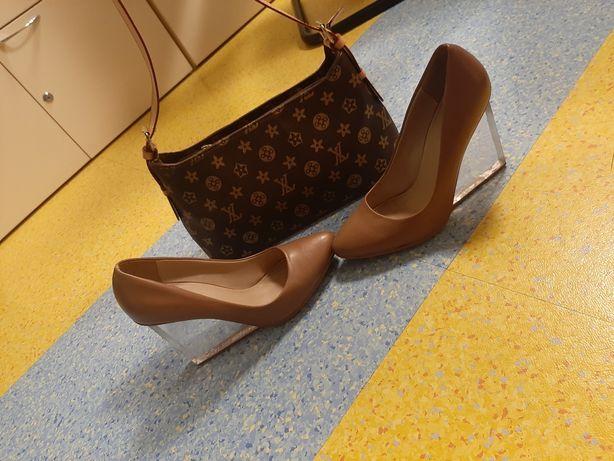 Pantofi superbi Nude piele naturala marimea 39