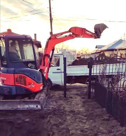 Excavari Fundatii,Fose septice,Șanțuri canalizari, apa, electrica