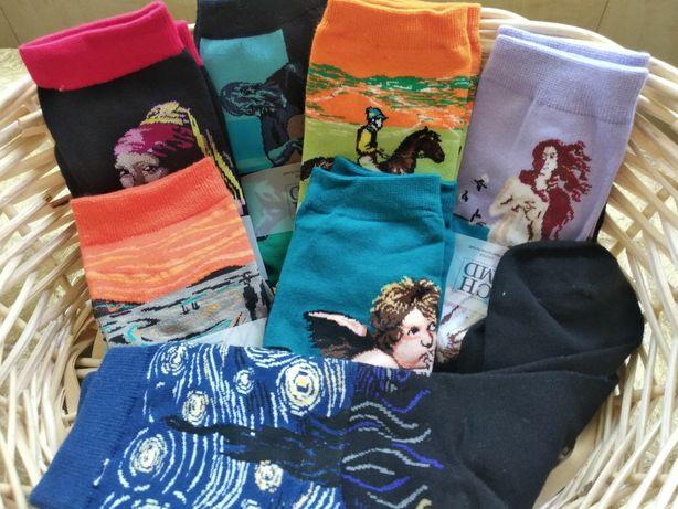 Носки с картинами женские