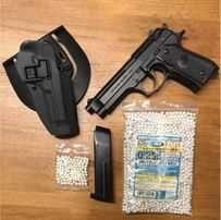 FOARTE PUTERNIC! Pistol Airsoft Beretta M9 + Toc+ Munitie Upgrade 4,4j