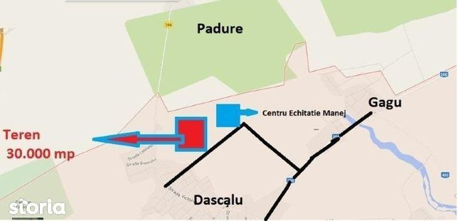 Teren Dascalu langa padure
