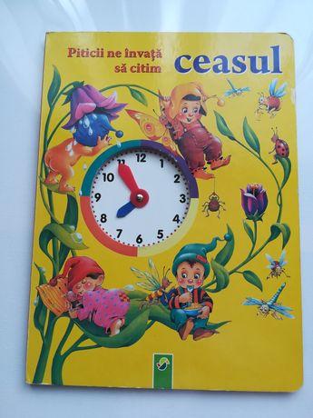 Carte veche educationala copii învățăm ceasul timpul