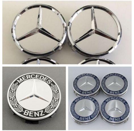Set 4 capace jante aliaj originale Mercedes Clasa A B C E S CLS CLK