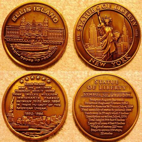 Numismatica - Medalii Ellis Island, Statue of Liberty, Intrepid din NY