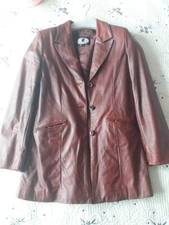 Куртка кожаная с подкладом, женская