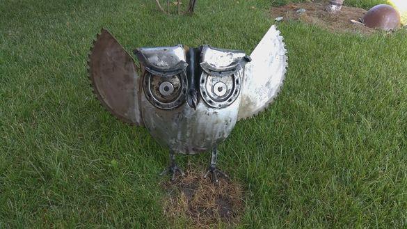 Продавам Арт украса Бухал за градината