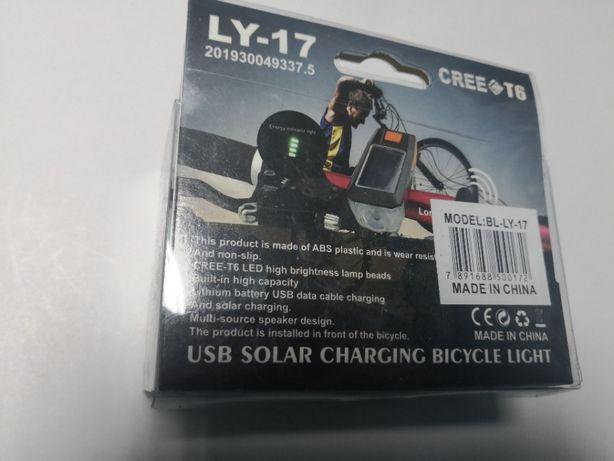 Lanterna cu incarcare solara pentru biciclete