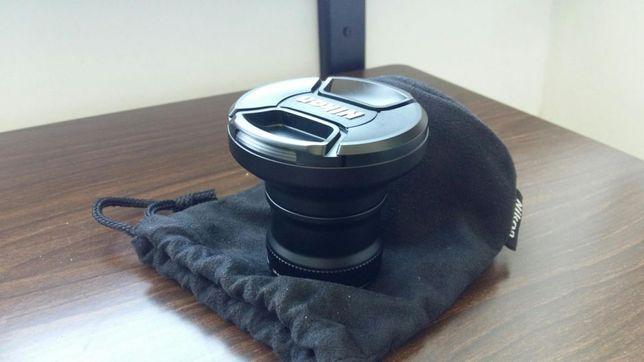 Nikon wide converterWC-E76 +inel adaptor pt nikon coolpix P6000