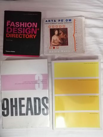carti design vestimentar, fashion, 4 bucati, in perfecta stare