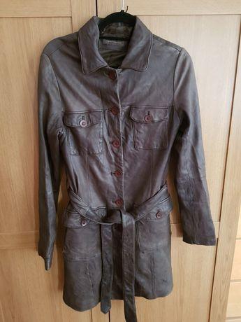 Pardesiu/palton damă,Pearlwood,din piele de căprioară,m.38/M
