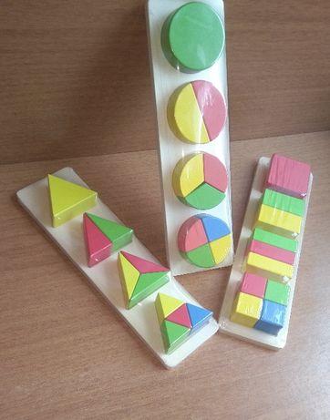 НОВО! Големи Дървени геометрични фигури в 3 плоскости + доставка