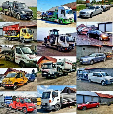 Tractari/Depanari/Remorcari/Transport Auto Si Utilaje De Mare Tonaj