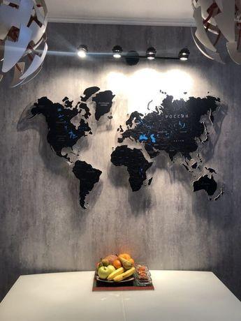 Декоративный карта мира, карта на стену