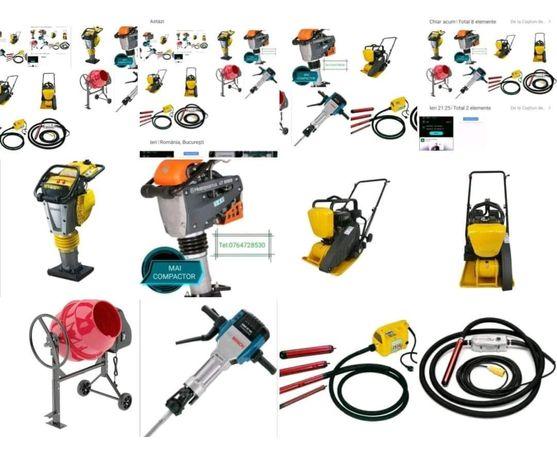 Inchiriez compactor, picamer, betoniera,vibrator,placa vibranta
