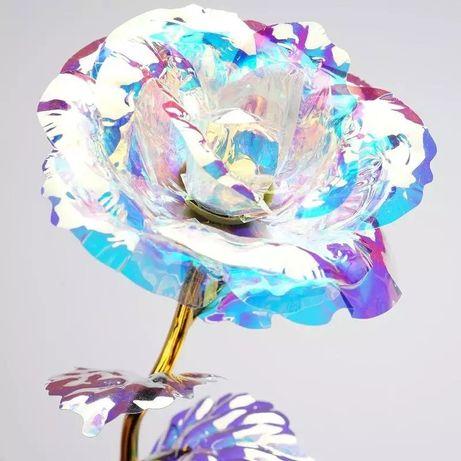 Кристална роза с 24к златно покритие 10лв
