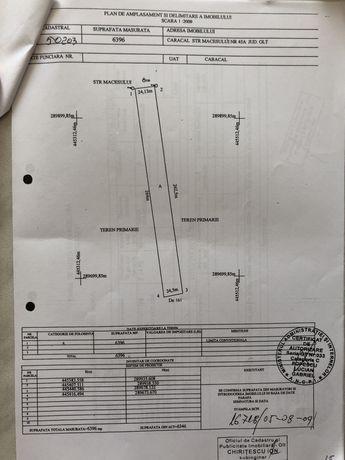 Teren intravilan Caracal 6396 mp