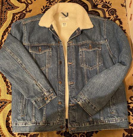 Джинсовая утепленная куртка Bershka