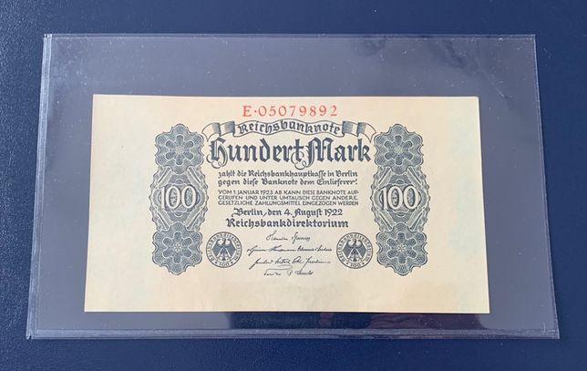 Bancnota 100 Mark 4 august 1922 UNC