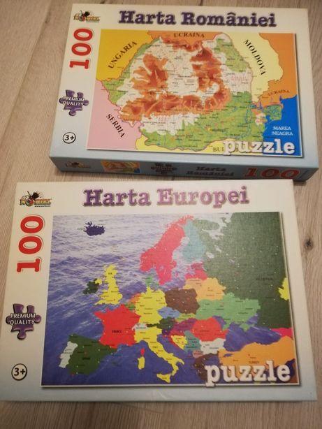 Puzzle 100 piese România și Europa