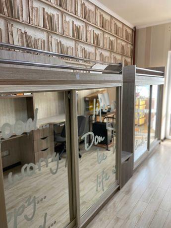 Детская дизайнерская двуспальная шкаф-кровать