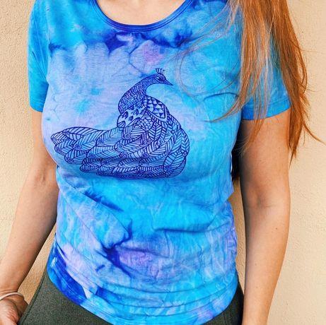 Coloreaza toamna cu un tricou pictat manual (tie-dye)