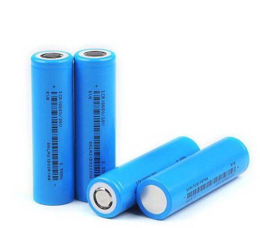Аккумуляторы 18650 Eve 2600mah li-ion высокотоковые