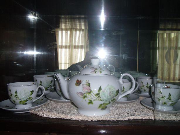 serviciu cafea/ceai.portelan fin vechi